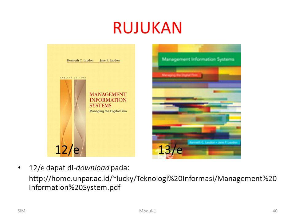 RUJUKAN 12/e 13/e 12/e dapat di-download pada: