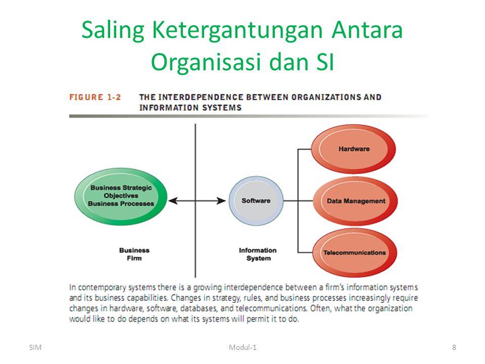 Saling Ketergantungan Antara Organisasi dan SI