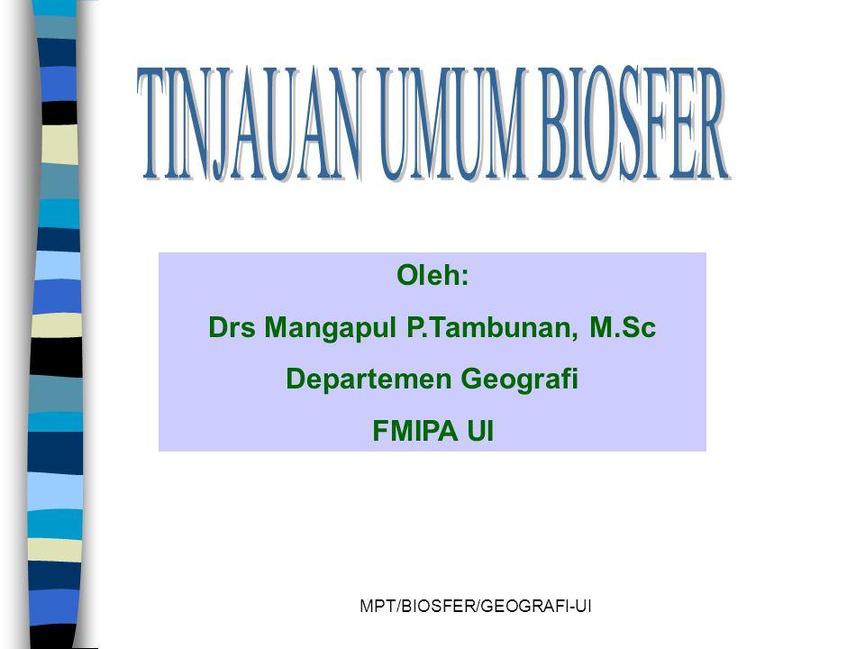 Drs Mangapul P.Tambunan, M.Sc