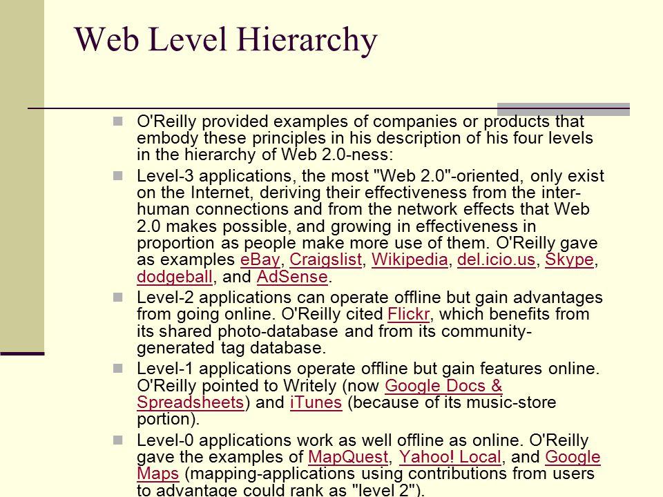 Web Level Hierarchy