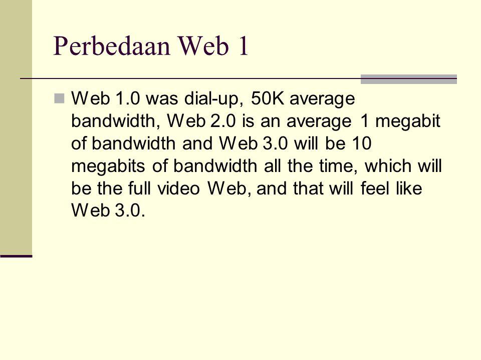 Perbedaan Web 1