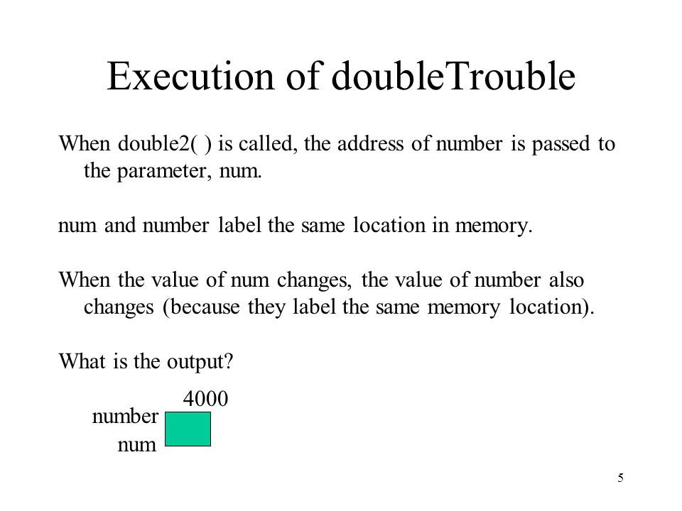 Execution of doubleTrouble