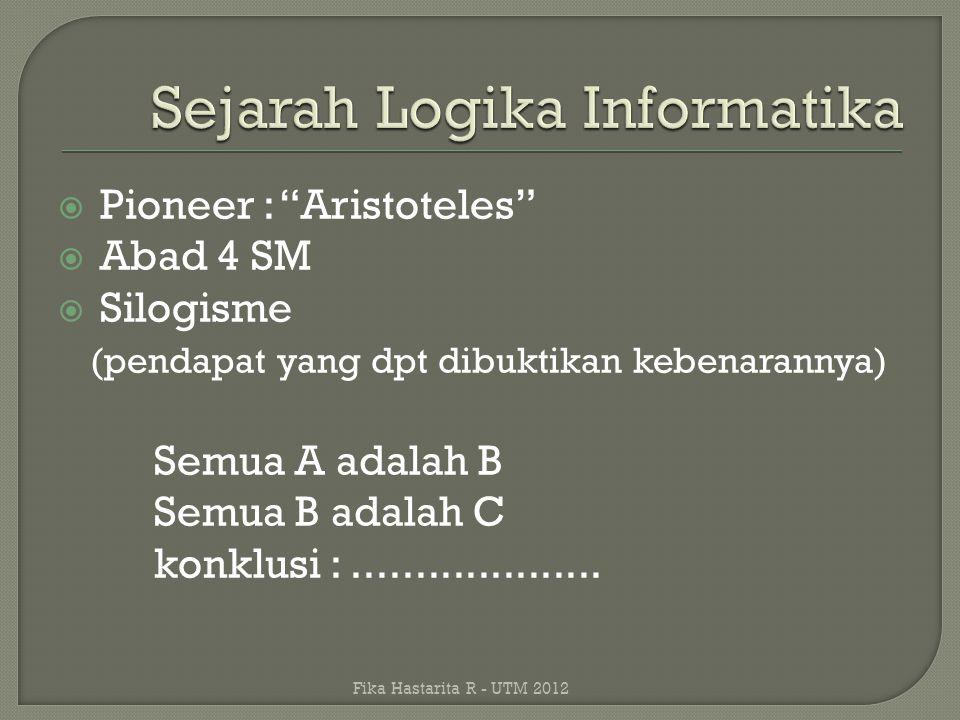 Sejarah Logika Informatika