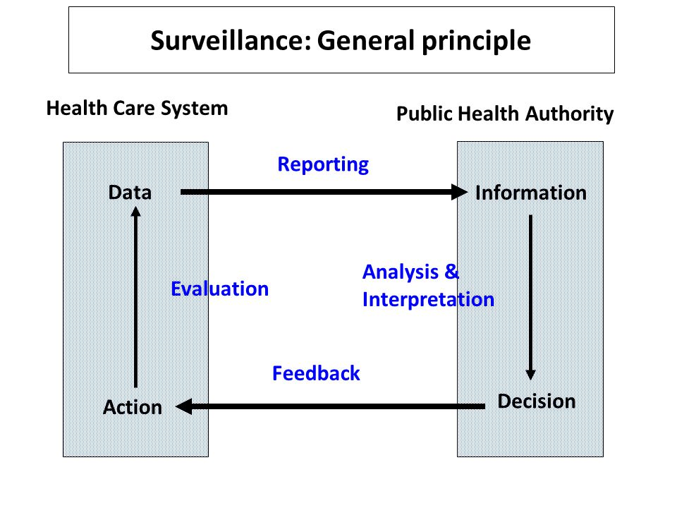 Surveillance: General principle