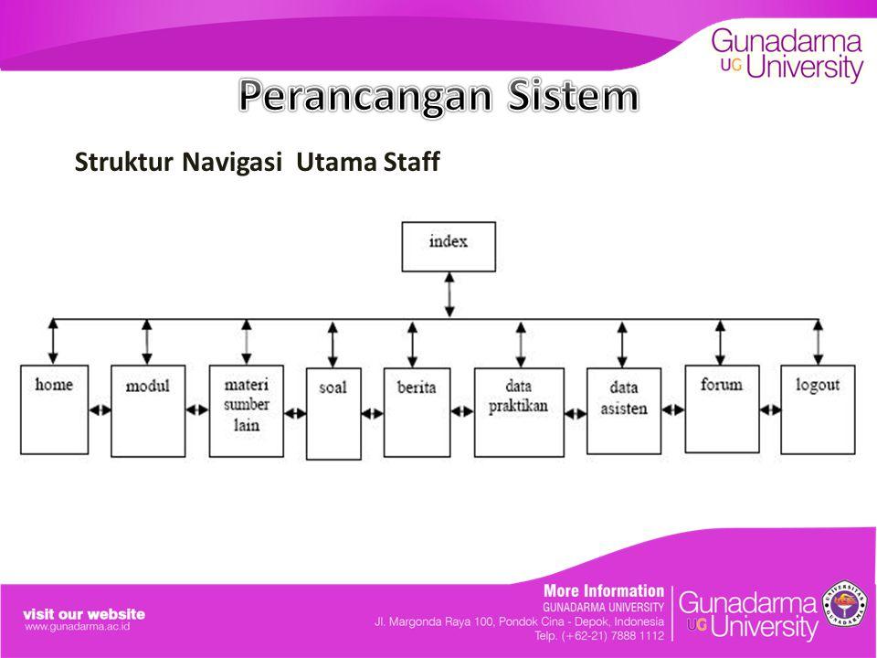 Perancangan Sistem Struktur Navigasi Utama Staff