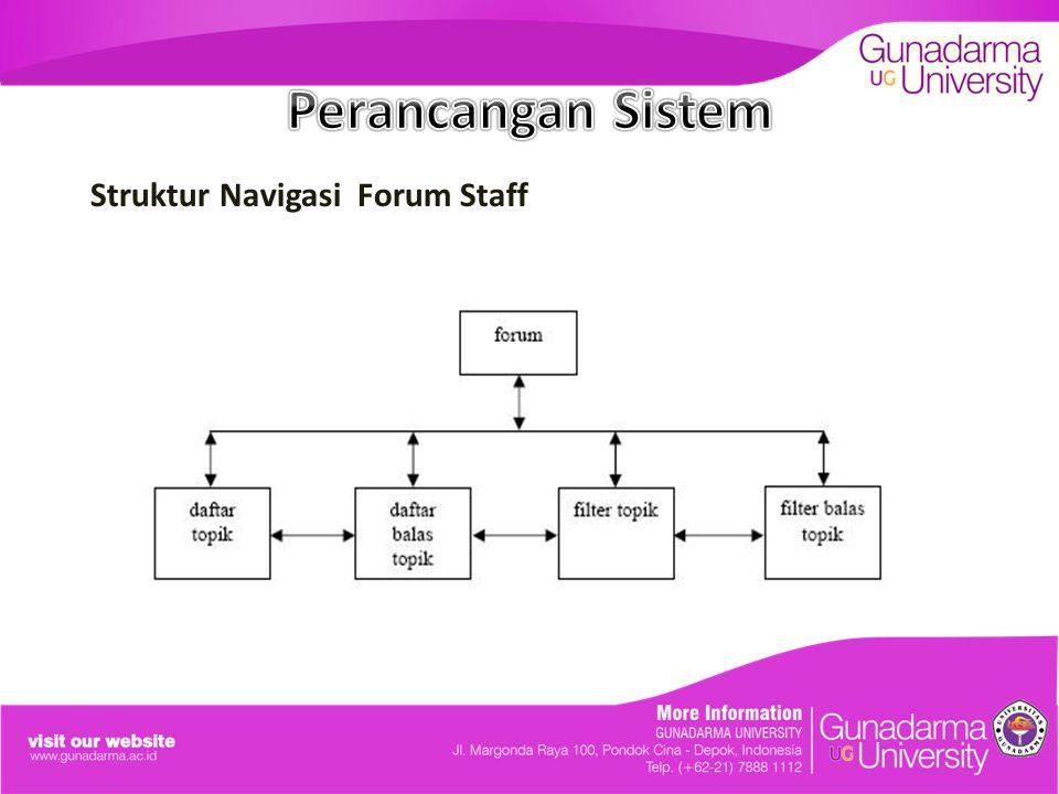 Perancangan Sistem Struktur Navigasi Forum Staff