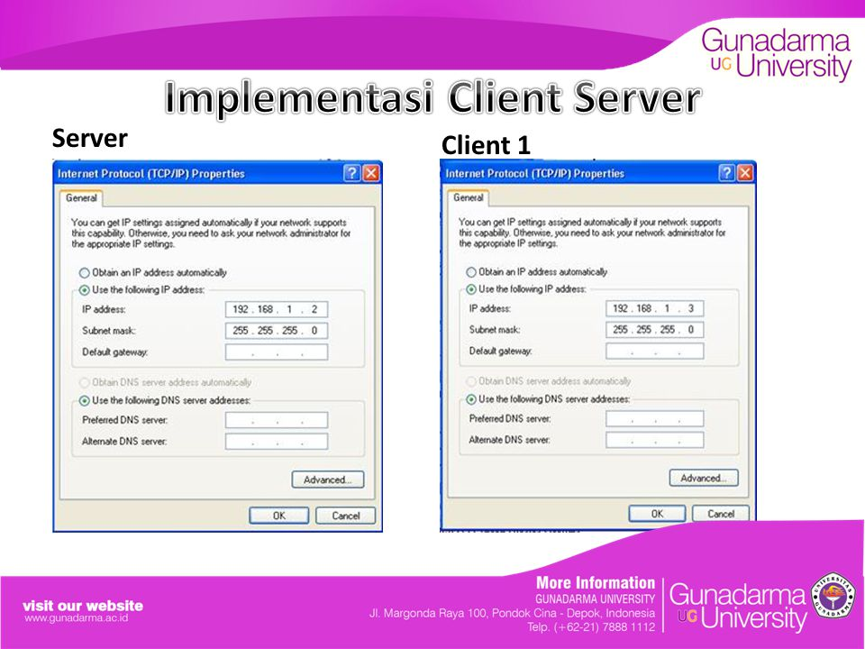 Implementasi Client Server