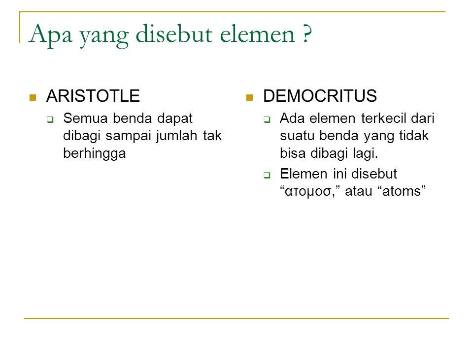 Apa yang disebut elemen