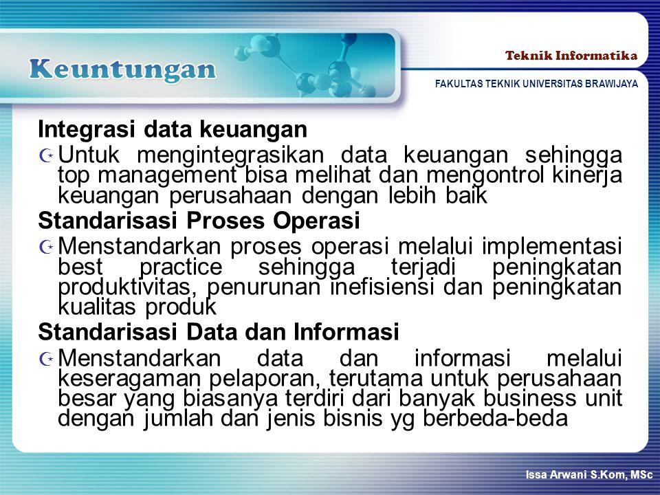 Keuntungan Integrasi data keuangan