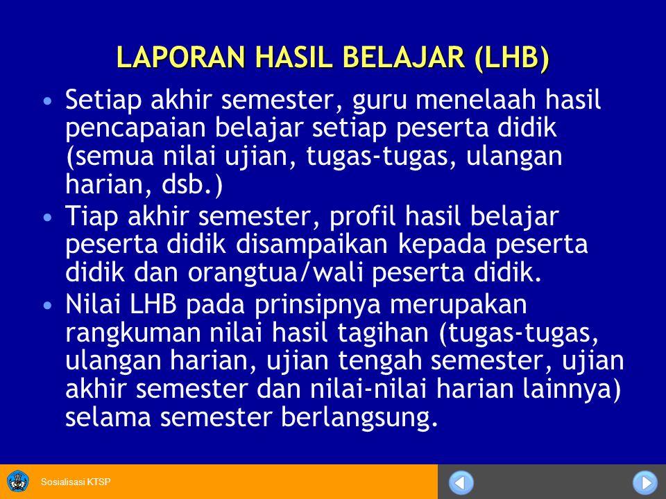 LAPORAN HASIL BELAJAR (LHB)