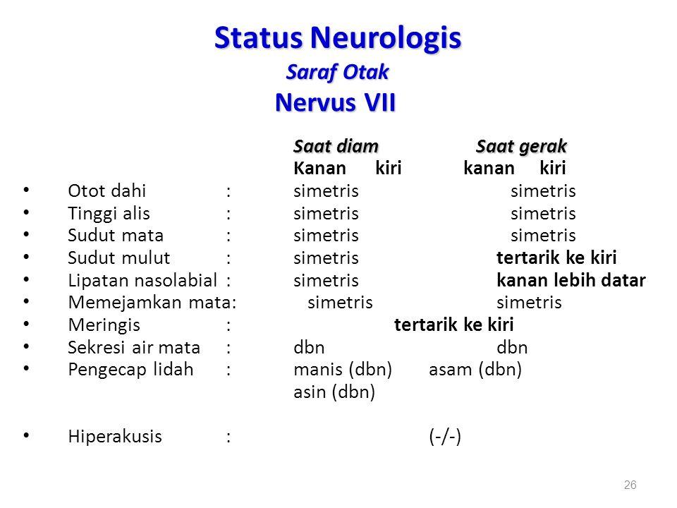 Status Neurologis Saraf Otak