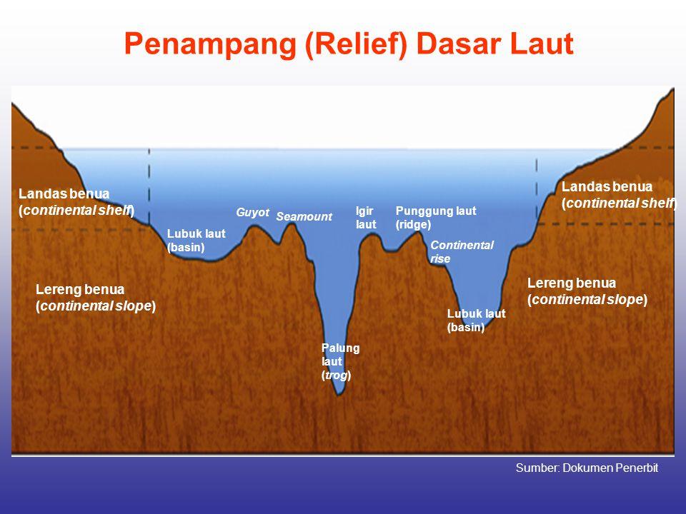 Penampang (Relief) Dasar Laut