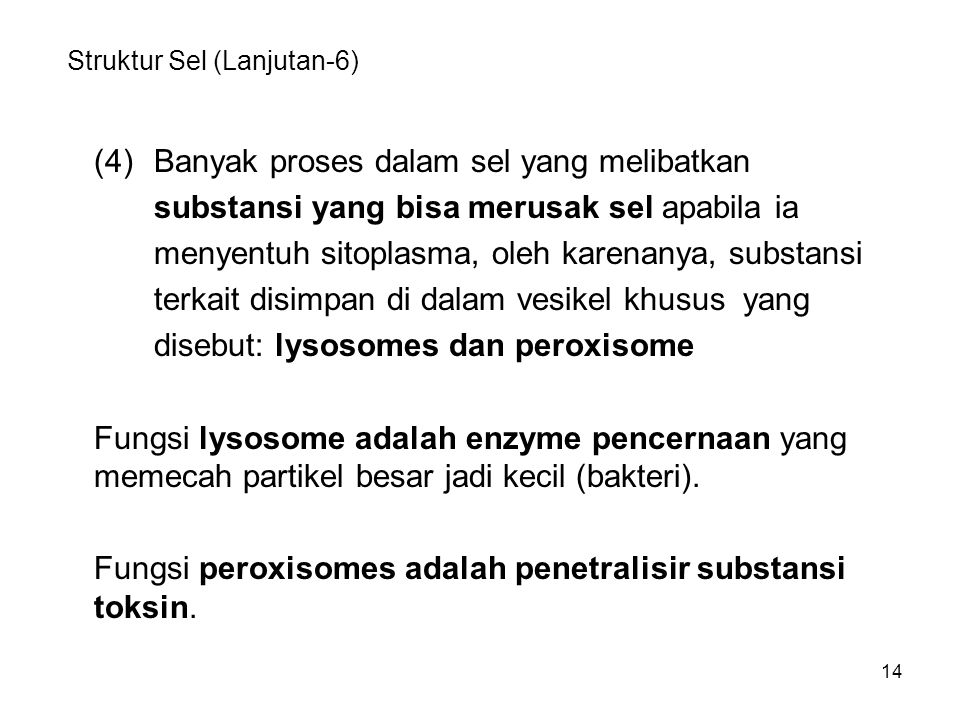 Struktur Sel (Lanjutan-6)