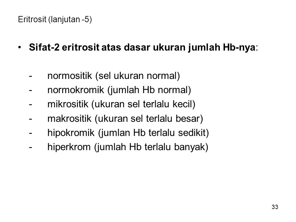 Eritrosit (lanjutan -5)