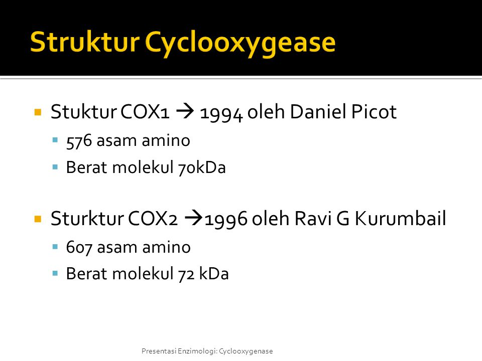 Struktur Cyclooxygease