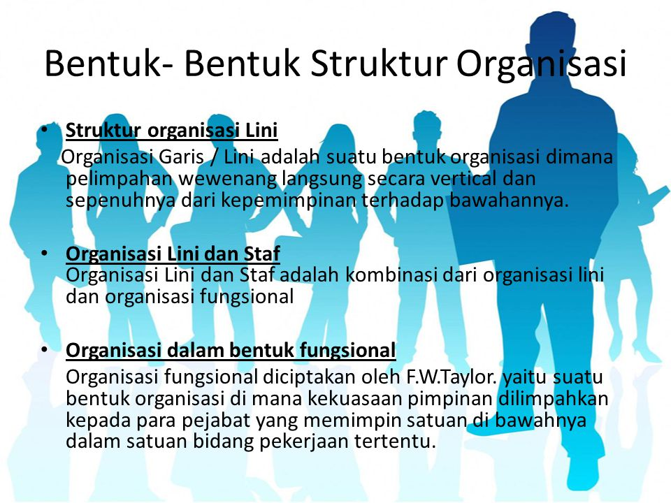 Bentuk- Bentuk Struktur Organisasi