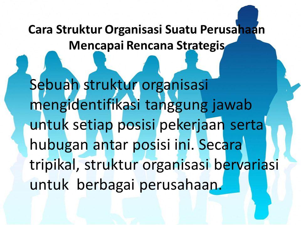 Cara Struktur Organisasi Suatu Perusahaan Mencapai Rencana Strategis