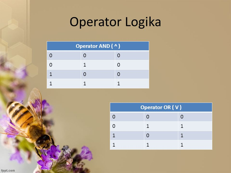 Operator Logika Operator AND ( ^ ) 1 Operator OR ( V ) 1