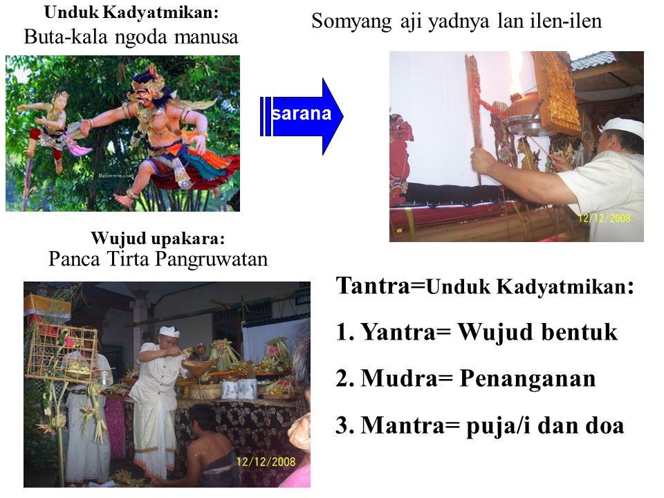 Wujud upakara: Panca Tirta Pangruwatan
