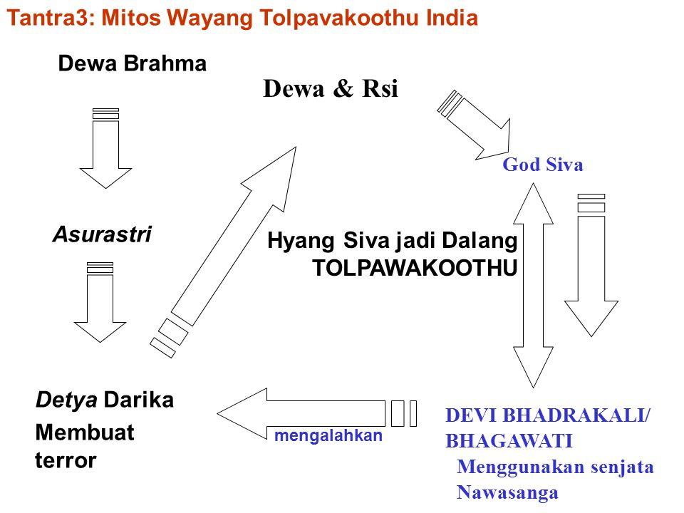 Dewa & Rsi Tantra3: Mitos Wayang Tolpavakoothu India Dewa Brahma