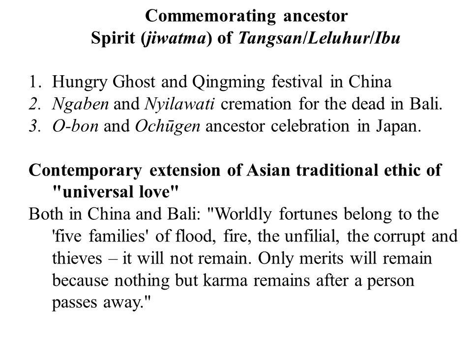 Commemorating ancestor Spirit (jiwatma) of Tangsan/Leluhur/Ibu