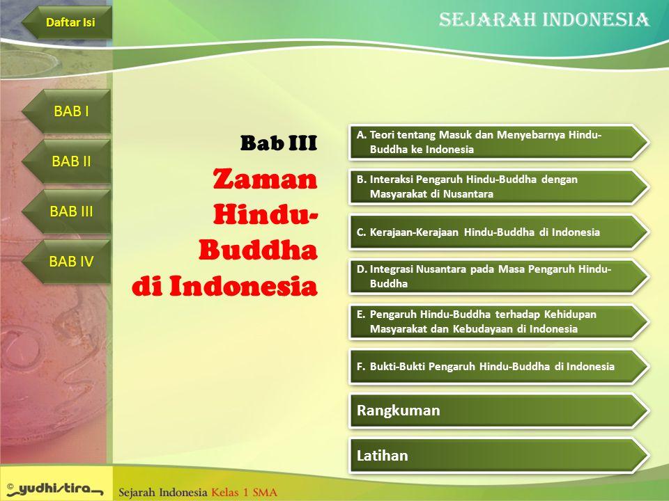 Zaman Hindu-Buddha di Indonesia Bab III BAB I BAB II BAB III BAB IV