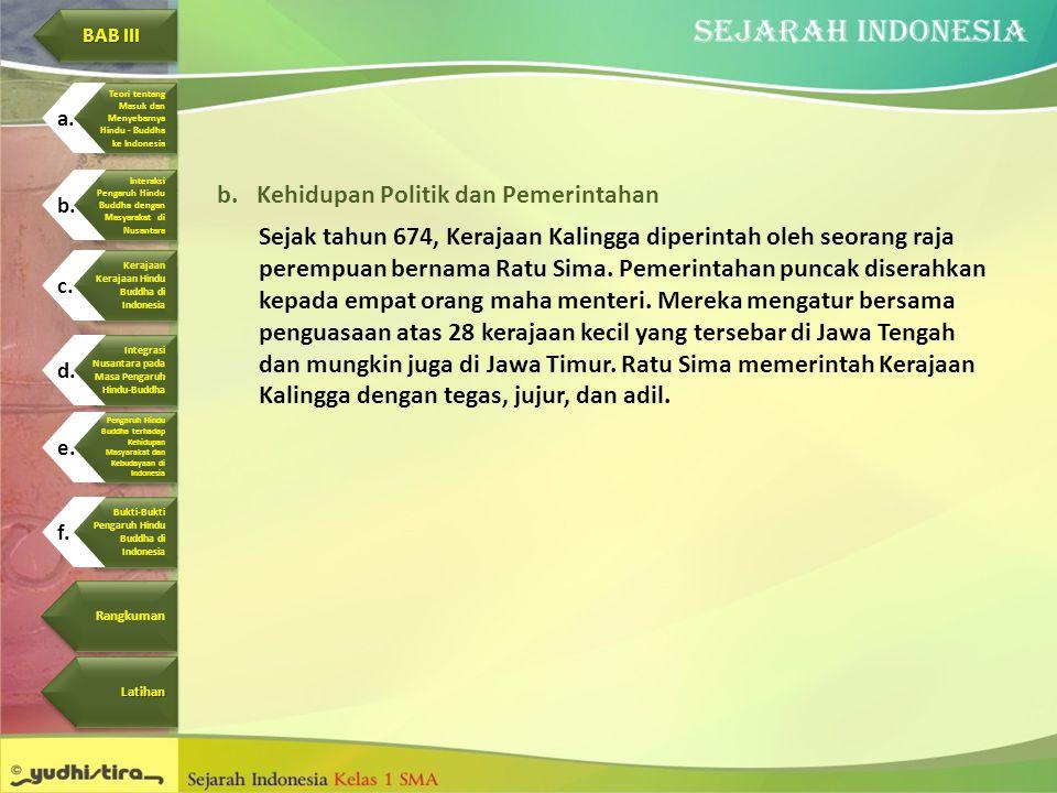 Kehidupan Politik dan Pemerintahan