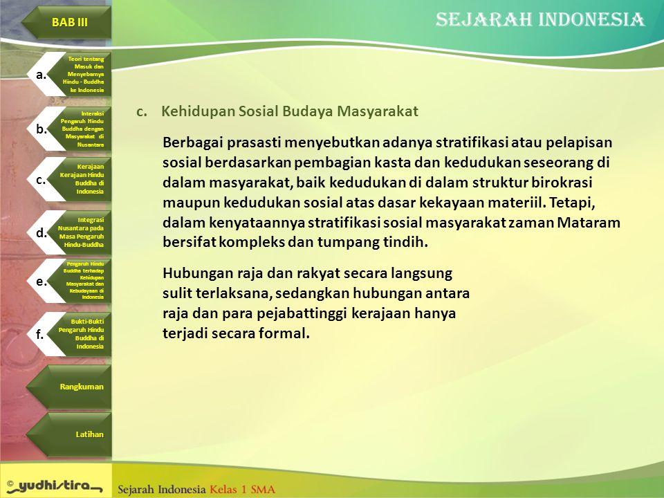 Kehidupan Sosial Budaya Masyarakat