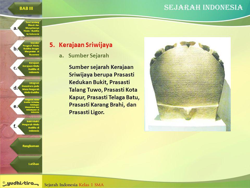 Kerajaan Sriwijaya Sumber Sejarah