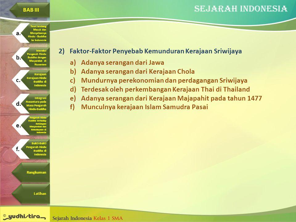 Faktor-Faktor Penyebab Kemunduran Kerajaan Sriwijaya