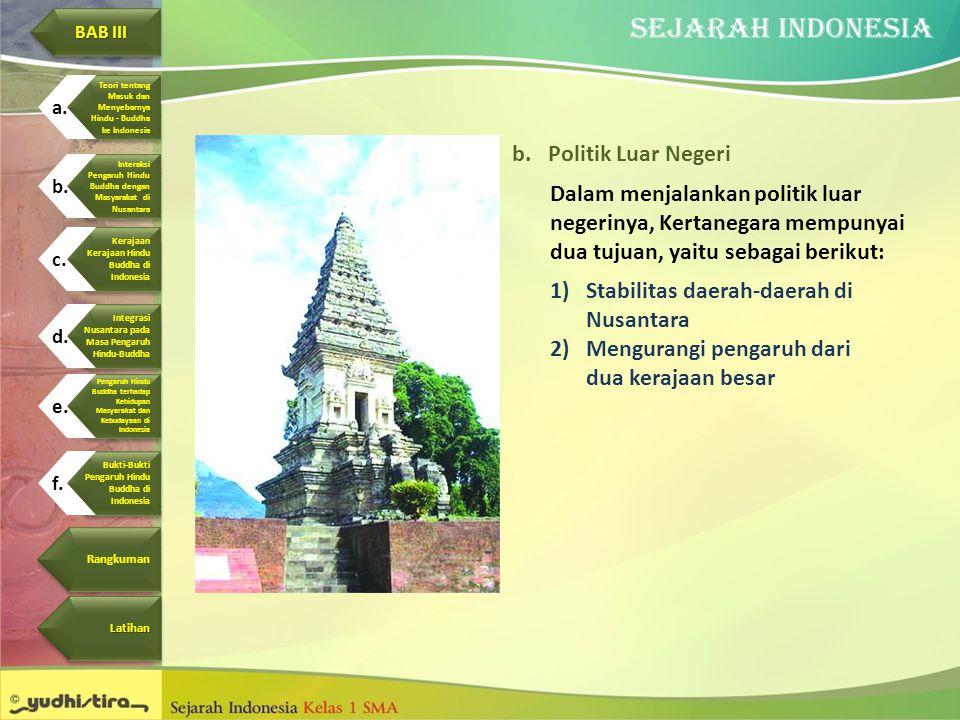 Stabilitas daerah-daerah di Nusantara