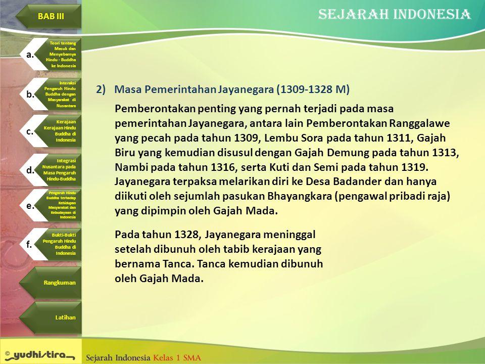 Masa Pemerintahan Jayanegara (1309-1328 M)