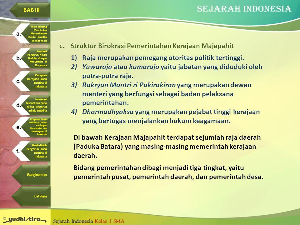 Struktur Birokrasi Pemerintahan Kerajaan Majapahit