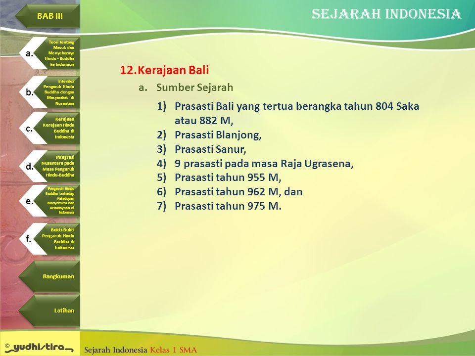 Kerajaan Bali Sumber Sejarah
