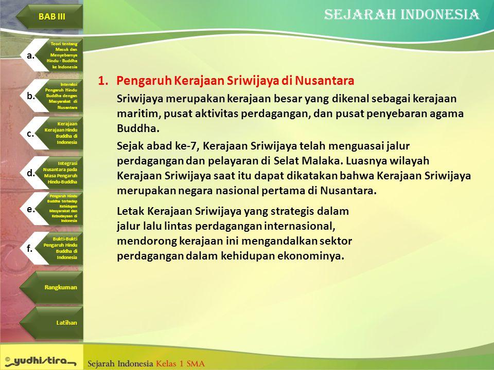Pengaruh Kerajaan Sriwijaya di Nusantara