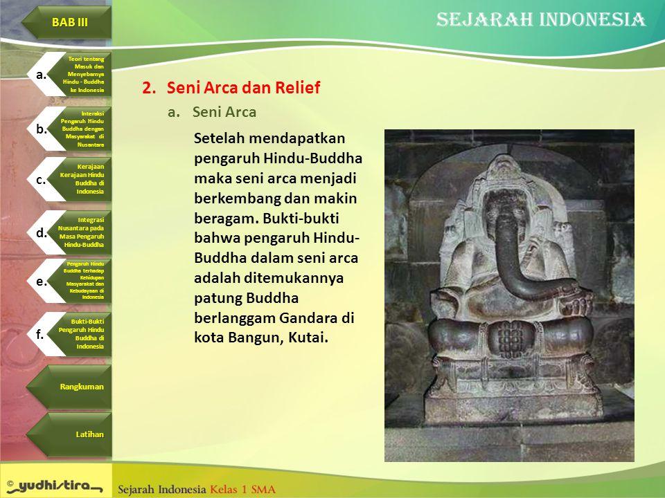 Seni Arca dan Relief Seni Arca