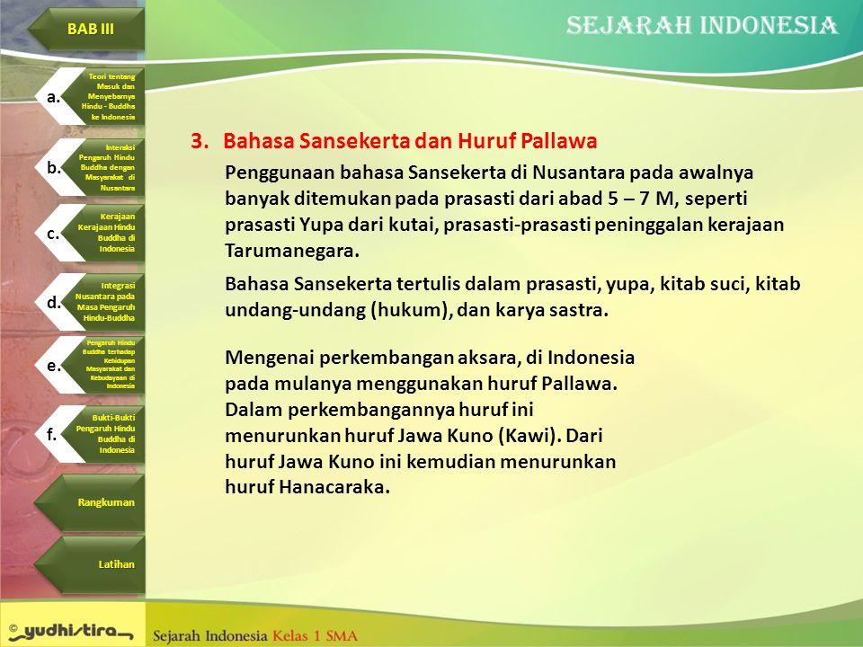Bahasa Sansekerta dan Huruf Pallawa