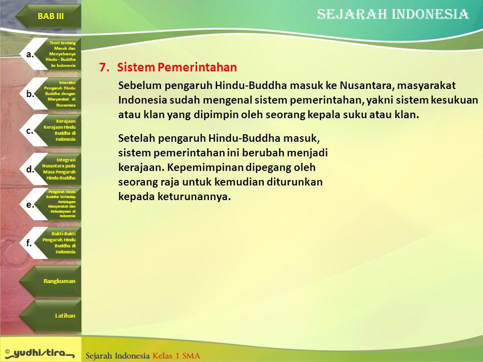 BAB III Pengaruh Hindu. Buddha terhadap. Kehidupan. Masyarakat dan. Kebudayaan di Indonesia. Bukti-Bukti.
