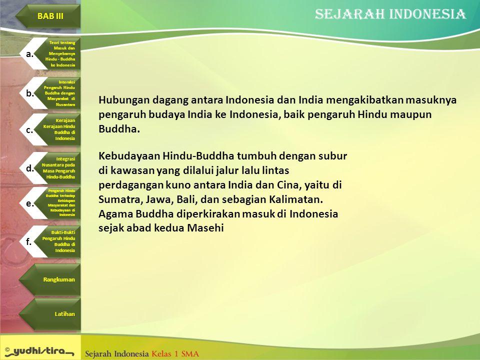 Agama Buddha diperkirakan masuk di Indonesia sejak abad kedua Masehi