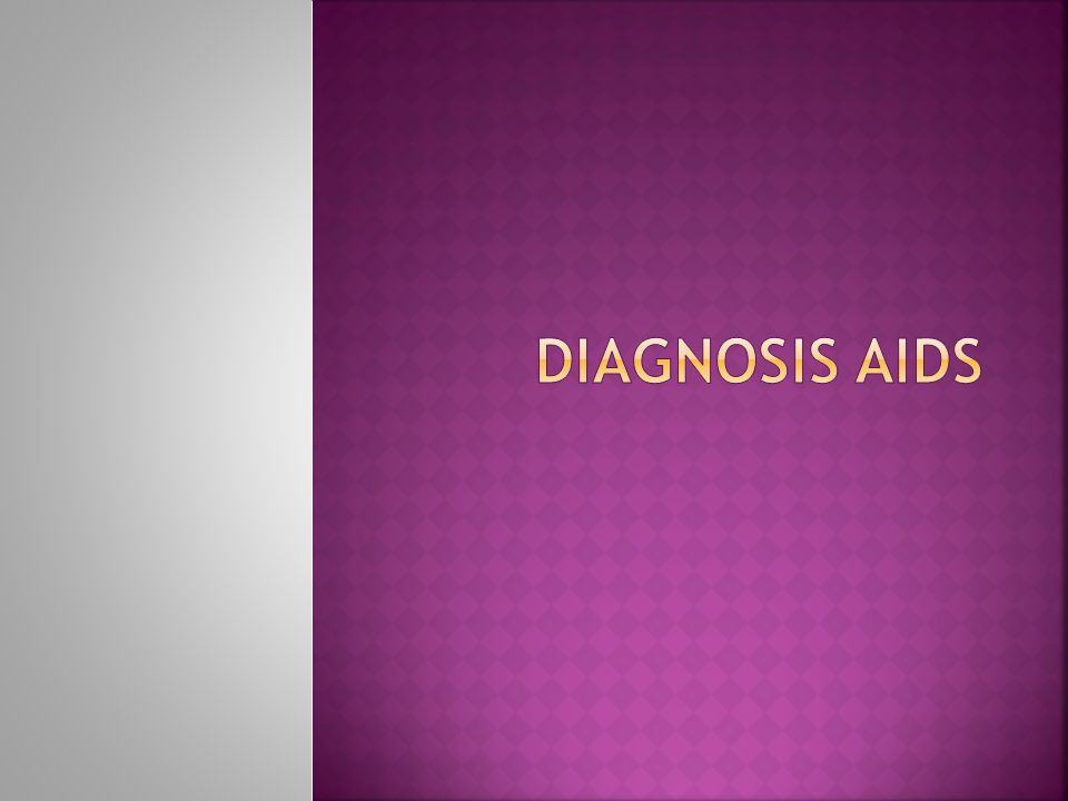 Diagnosis aids