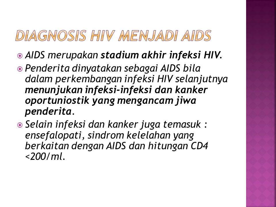 Diagnosis HIV menjadi AIDS
