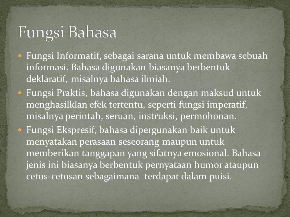 Fungsi Bahasa