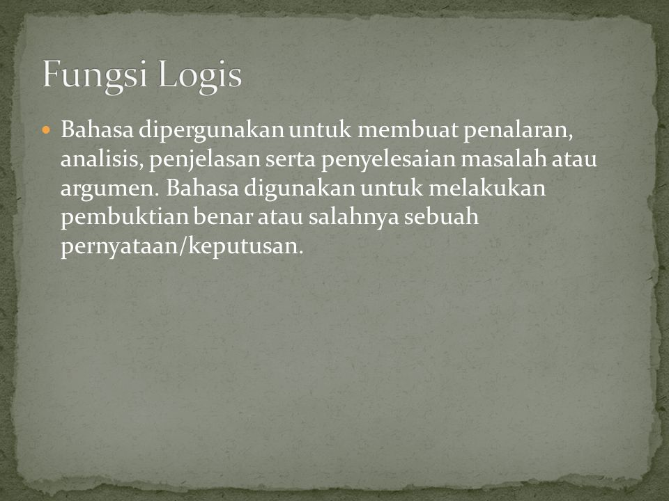 Fungsi Logis