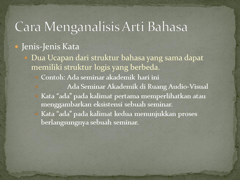 Cara Menganalisis Arti Bahasa