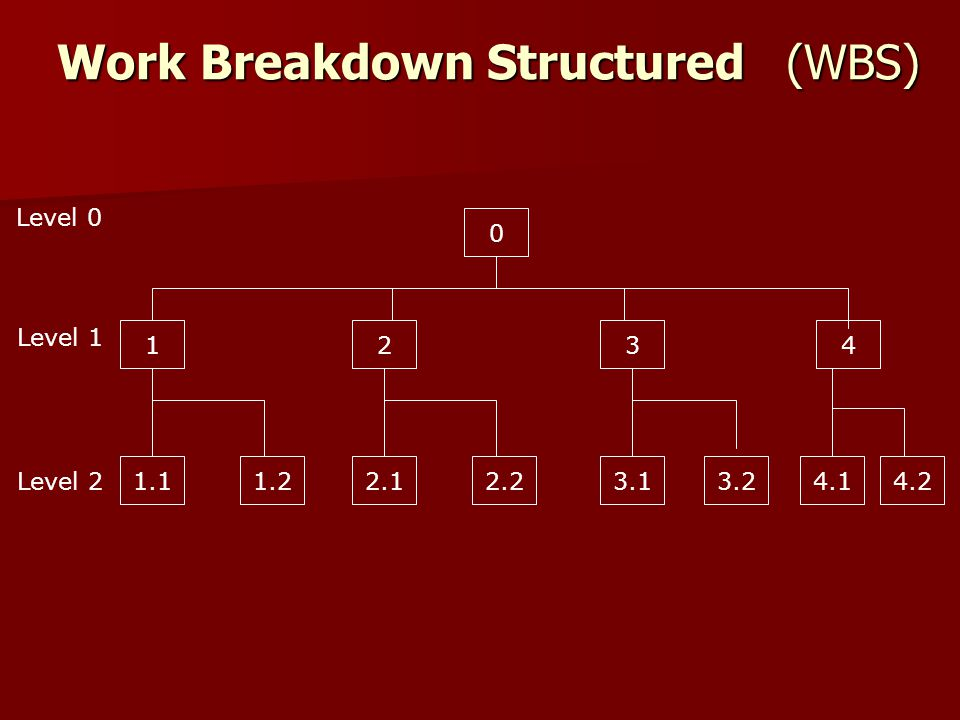 Work Breakdown Structured (WBS)