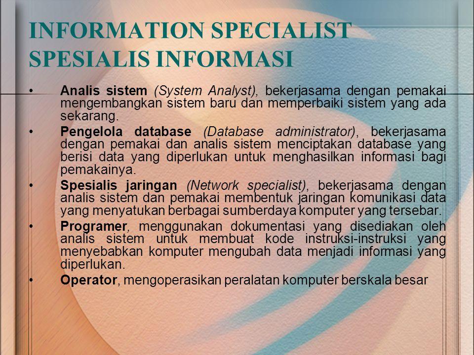 INFORMATION SPECIALIST SPESIALIS INFORMASI