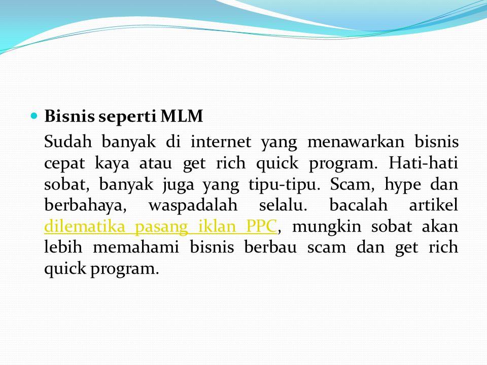 Bisnis seperti MLM