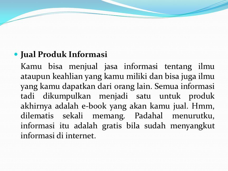 Jual Produk Informasi