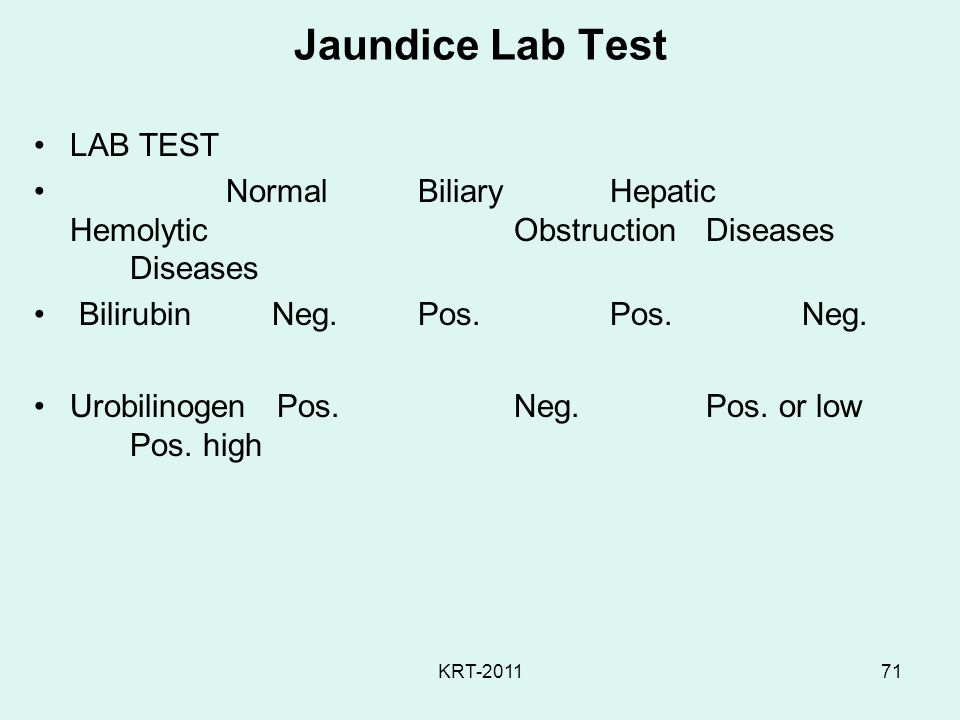 Jaundice Lab Test LAB TEST