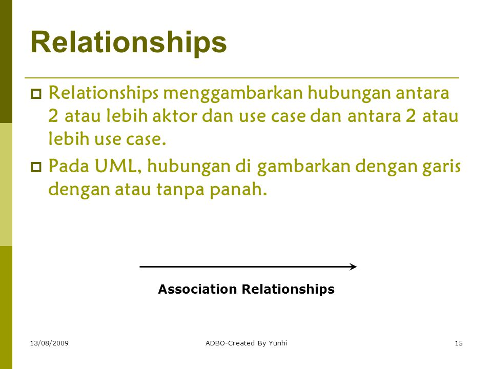 Association Relationships
